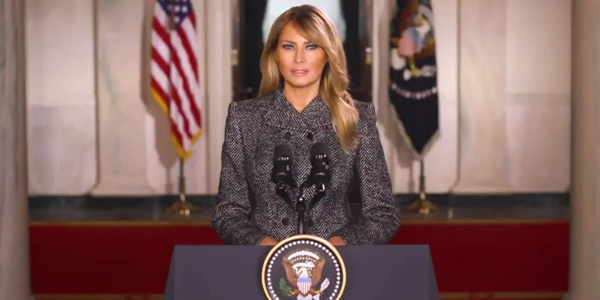 Melania Trump issues farewell video