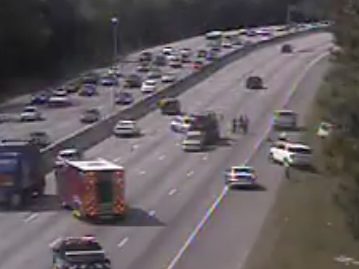 Crews clear I-26 westbound accident near Aviation Avenue exit